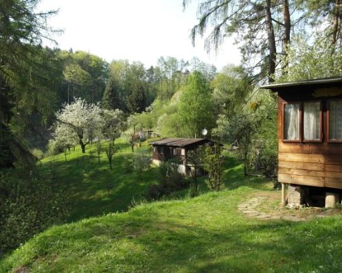 Dvě chaty na rozlehlém pozemku 3165 m2